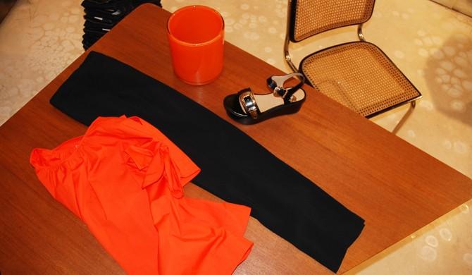 MSGM top, MM6 pantalon, TOGA PULLA sandales