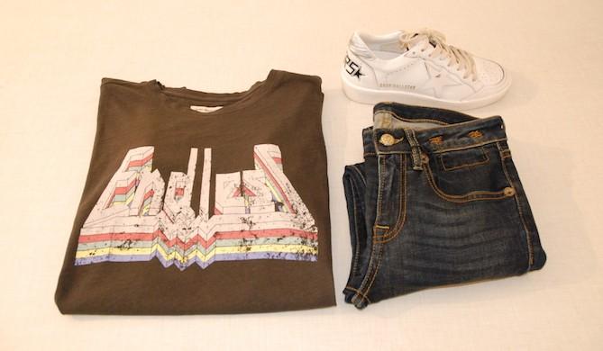 ISABEL MARANT ETOILE t-shirt, R13 jeans, GOLDEN GOOSE DELUXE BRAND tennis shoes